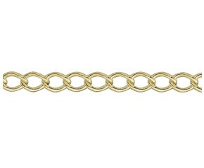 9ct Yellow Gold 5.38mm Open Curb Chain Bracelet