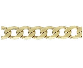 9ct Yellow Gold 9.9mm Metric Curb Chain Bracelet