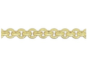 9ct Yellow Gold 7.43mm Round Belcher Bracelet
