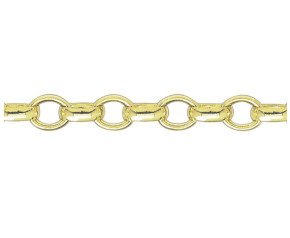 9ct Yellow Gold 7.25mm Oval Belcher Bracelet
