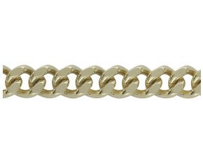 18ct Yellow Gold 8.96mm Heavy Filed Curb Chain Bracelet