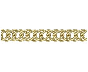 18ct Gold French Curb Chain Bracelet