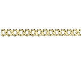 18ct Yellow Gold 5.03mm Heavy Close Curb Chain Bracelet