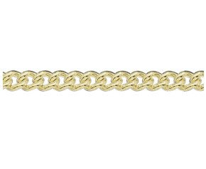 18ct Yellow Gold 5.54mm Heavy Close Curb Bracelet