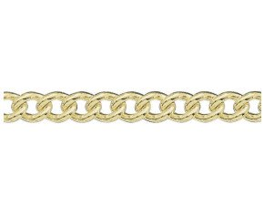 18ct Yellow Gold 6.20mm Heavy Close Curb Chain Bracelet
