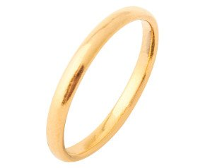 Pre-worn 22ct Gold Court 2.5mm Wedding Band