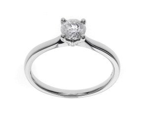Classic Collection Platinum 0.50ct Solitaire Diamond Ring