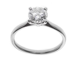 Classic Collection Platinum 1.00ct Solitaire Diamond Ring