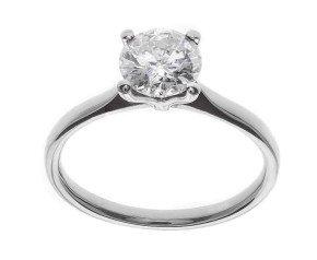 Classic Collection Platinum 1.00ct Solitaire Diamond Ring
