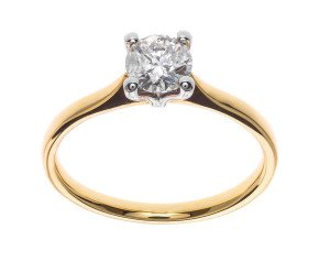 Classic Collection 18ct Gold 0.50ct Solitaire Diamond Ring