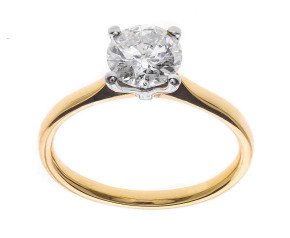Classic Collection 18ct Gold 1.00ct Solitaire Diamond Ring