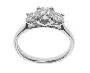 The Classic Collection Platinum 1.00ct Diamond Trilogy Ring