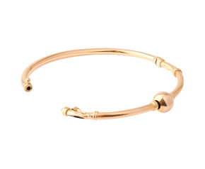 Pre-Owned Gold Decorative Hinged Bangle