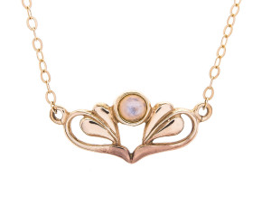 9ct Gold Moonstone Necklace