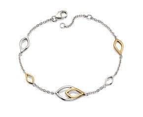 Sterling Silver And Gold Vermeil Fancy Bracelet