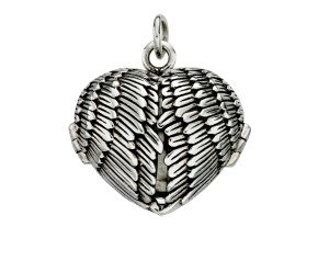 Sterling Silver Angel Wings Keepsake Locket