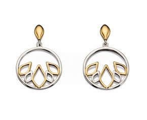 Sterling Silver & Gold Vermeil Drop Earrings