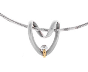 Pre-Owned Bespoke 0.30ct Diamond Heart Necklace