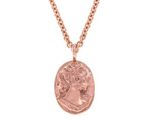 18ct Rose Gold Vermeil Cameo Necklace