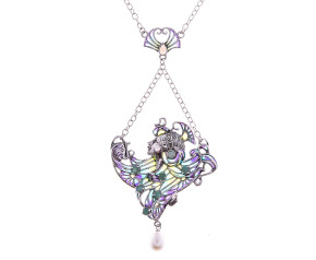 Pre-Owned Reproduction Art Nouveau Gem Set Necklace