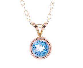 Pre-Owned Topaz Collet Set Pendant