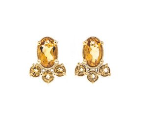 9ct Gold Citrine Fancy Earrings