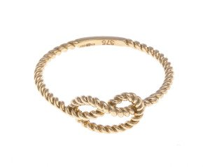 9ct Gold Rope Knot Ring