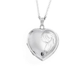 Pre-Owned Sterling Silver Heart Locket