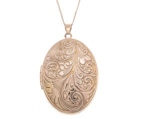 9ct Yellow Gold Large Oval Locket
