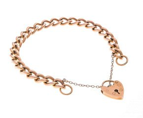 Vintage 9ct Gold Curb Bracelet