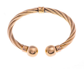 Pre-Owned 9ct Gold Hinged Torc Bangle