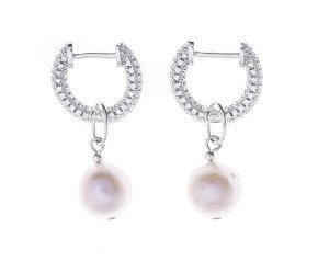 Sterling Silver Freshwater Pearl Multiway Drop Earrings