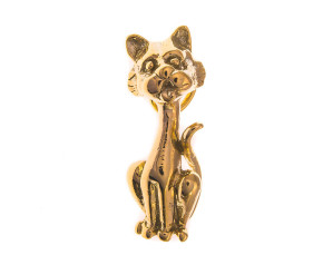 Vintage 9ct Gold Cat Charm