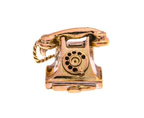 Vintage 9ct Gold Telephone Charm