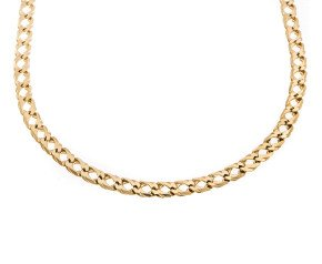 Pre-Owned 9ct Yellow Gold 5.76mm Fancy Curb Chain