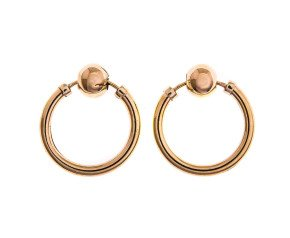 Pre-Owned Ball Hoop Earrings