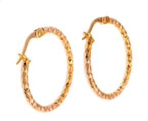 Pre-Owned Textured Hoop Earrings