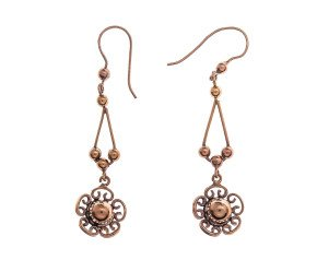 Antique 9ct Gold Drop Earrings