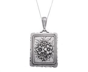 Antique Victorian Silver Rectangular Locket