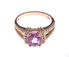 18ct Rose Gold 3.00ct Pink Sapphire & Diamond Cocktail Ring