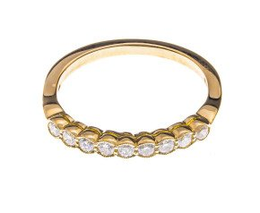 18ct Gold 0.28ct Diamond Half Eternity Ring
