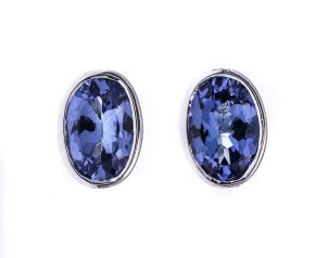 0.86ct Tanzanite Solitaire Earrings