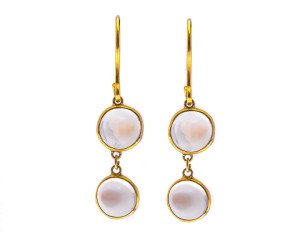 Pre-owned Moonstone Drop Earrings