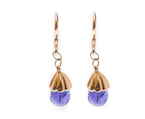 Pre-owned Tanzanite Drop Earrings