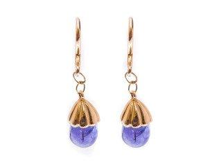 Pre-owned Tanzanite Drop Earrings