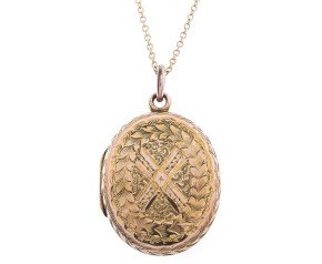 Antique 9ct yellow Gold Locket