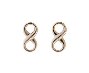 9ct Yellow Gold Infinity Stud Earrings