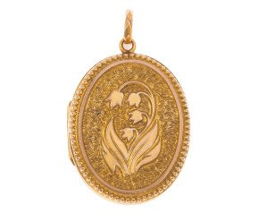 Vintage Front & Back Ornate Locket