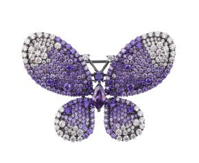 Sterling silver Purple Butterfly Brooch