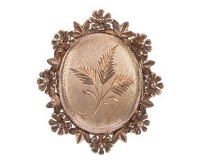 Vintage 1960's Silver Gilt Locket Brooch